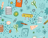 school days fabric design