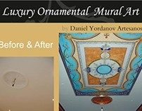 Luxury Ornamental Mural Art. BEFORE & AFTER 01