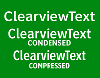 ClearviewText® 48 fonts for text & display in 3 widths