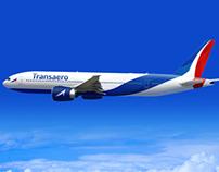 Transaero airlines rebranding concept