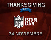NFL Thanksgiving Banners animados