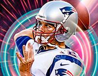 Tom Brady, Digital Illustration