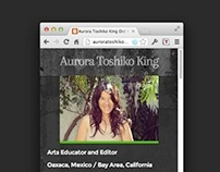 One-Page Personal Website for Aurora Toshiko King