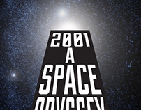 2001 A Space Odyssey Poster Design
