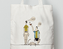 illustration on bags