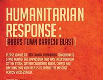 Humanitarian Response : Abbas Town Karachi Blast