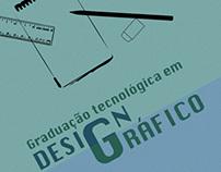 Cartaz da graduação tecnológica em Design Gráfico