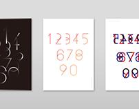 Modern number typeface