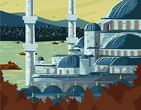 Istanbul Travel Poster