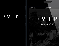iVIP Black App Concept iOS App