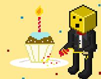 Pixel Art : Birthday Animation