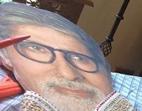 Portrait of Amitabh Bachchan created by Ranbir - 2013