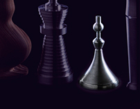 Shape Study by Metal Lathing: Chess Piece and Peg-top