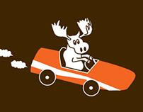 Moose Derby Illustration