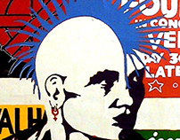 Mohawk Screen Print - 1981 - High School