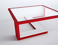 Absurda Cocktail Table Glass Top