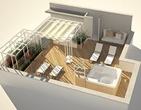 Progetto di ristrutturazione e arredo terrazzo