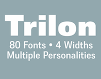 Trilon® 80 Fonts, 4 Widths, Multiple Personalities