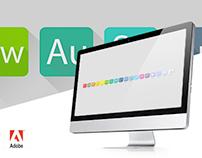 Adobe Creative Suite Flat Icons