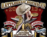 55th Annual Rattlesnake Round-Up Logo Design