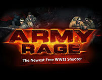 Army Rage Ad and UI Elements