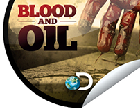 Blood and Oil Get Glue Stickers