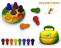 Easy Grip Crayons