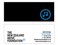 NZMF Business Card and Ad