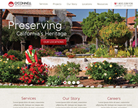 O'Connell Landscape Website Design