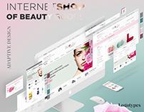 Internet shop. Web design