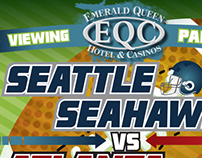 Emerald Queen Casino Football Poster