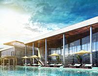 Club pool Vray exterior