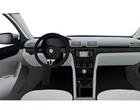 Volkswagen Passat interior in Adobe Illustrator