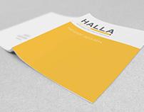 Разработка концепции дизайна каталога HALLA