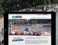 Paris Connect branding & responsive website