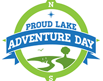Proud Lake Adventure Day Logo Design