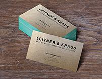 "Branding, Print, Web Design / ""Leitner & Kraus"""