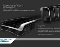 Form study for BlackBerry brand