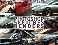 Random, various Photoshop sketches and renders 2