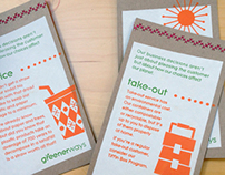 Greenerways Table Tents