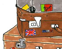 Design cover for a flea market tourist guide