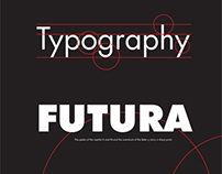 Typography Poster for Futura Type