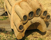 Caerleon Arts Festival 2013 - Pans' Pipes Bench