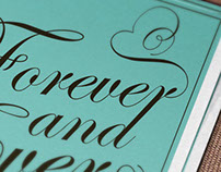 "Poster "" Forever and Ever Together """