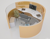 Ofice cubicle / Cubicle workstation ( circle pattern )