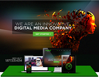 Digital Media Homepage Design Concept
