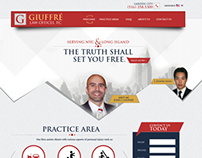 Injury Law Firm Homepage Design Concept