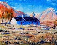 Black Rock Cottage, Glencoe. 16x20in