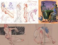 Sketchbook and Landscape Nov. 2012