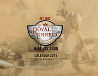 Royal Enfield Calender 2013